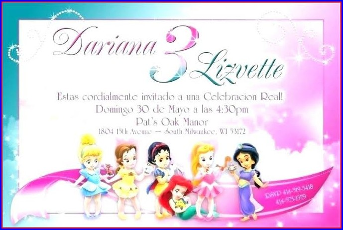 Printable Disney Princess Invitation Template