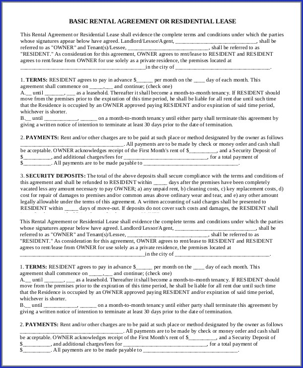Printable Lodger Agreement Template