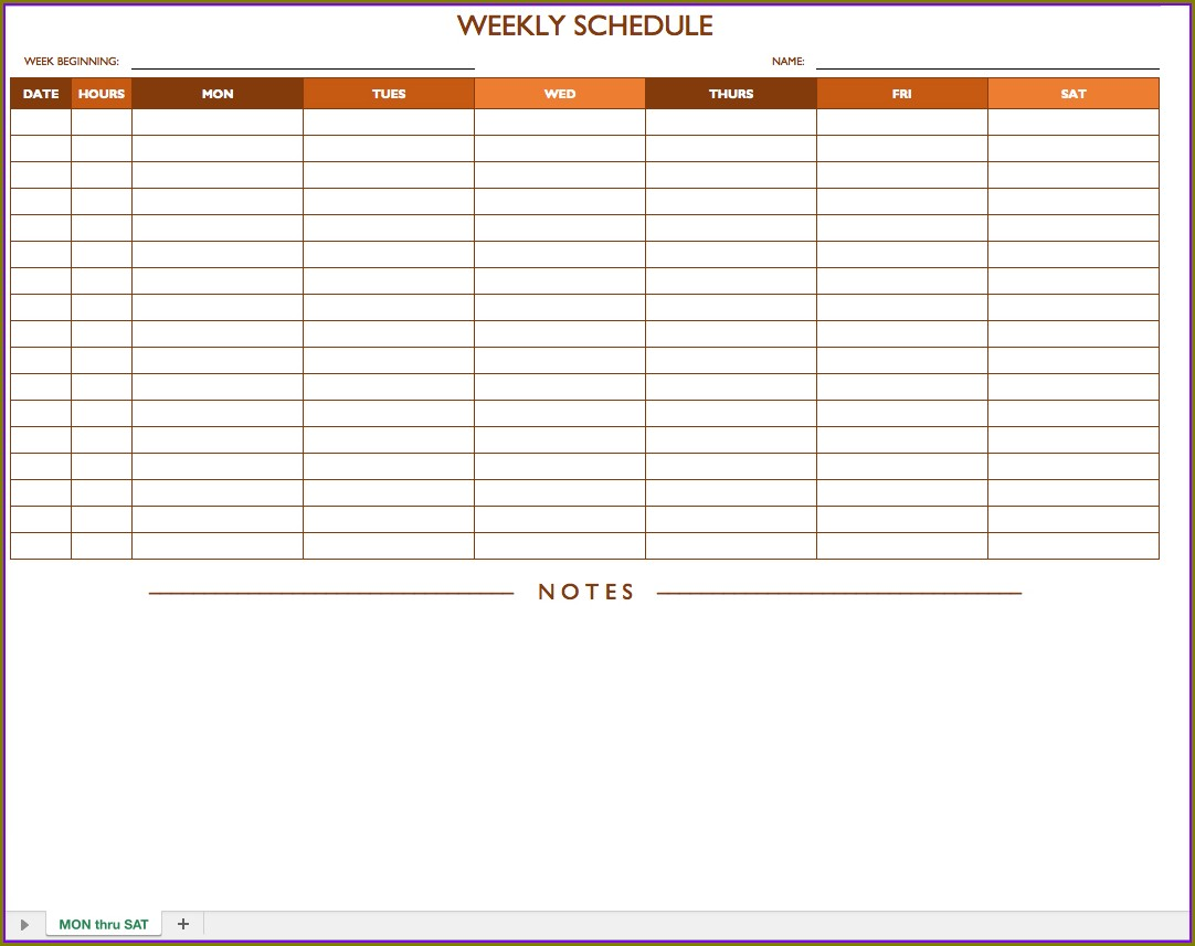 Printable Weekly Employee Schedule Template