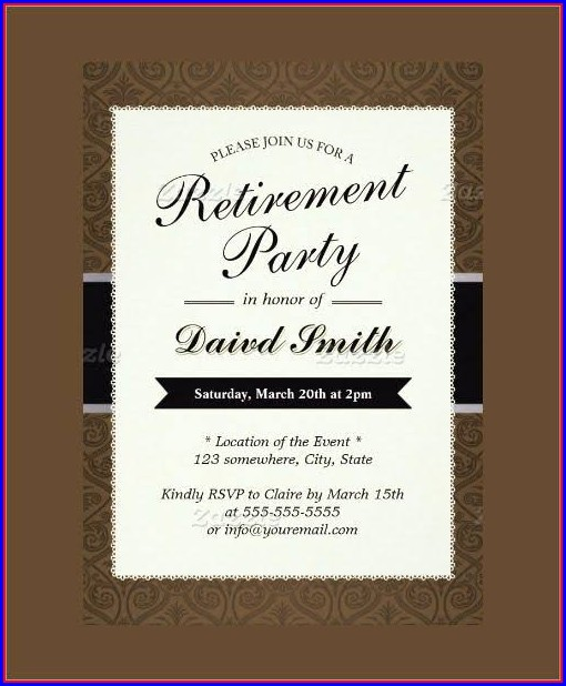 Retirement Party Flyer Template Microsoft Word