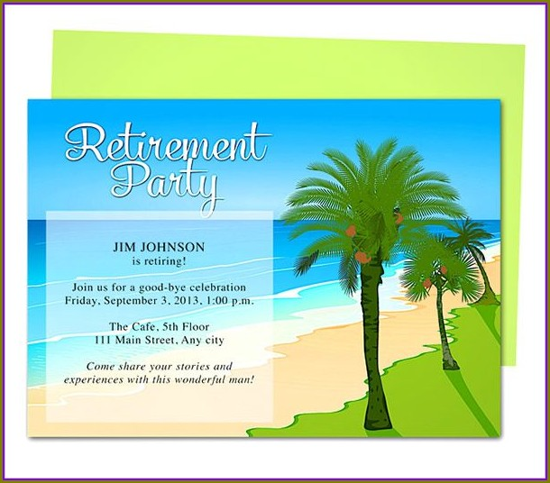 Retirement Party Invitation Free Template