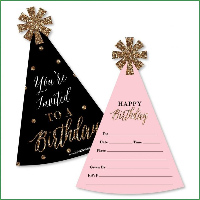 Rose Gold Birthday Invitation Template
