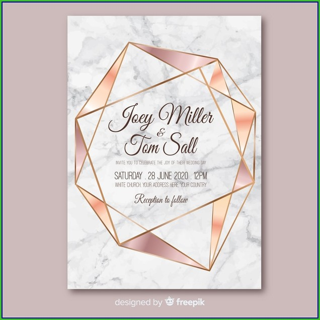 Rose Gold Invitation Template