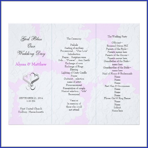 Tri Fold Wedding Invitation Templates Download