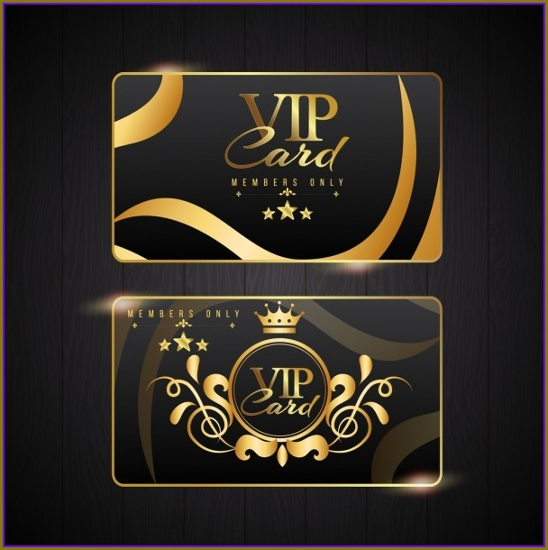 Vip Card Template Free