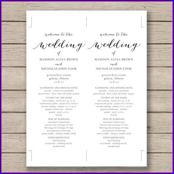 Wedding Pamphlet Template