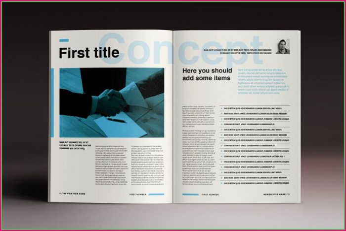 Adobe Indesign Newsletter Templates Free