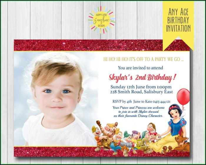 Baby Snow White Invitation Template
