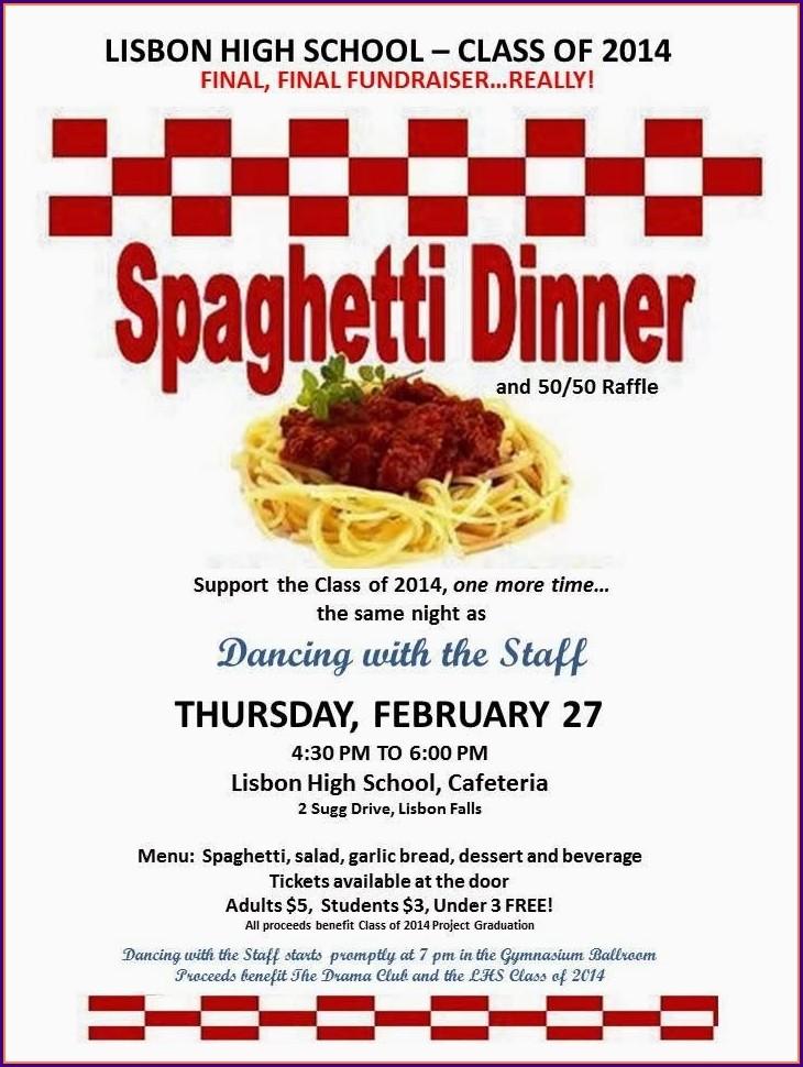 Benefit Dinner Tickets Template
