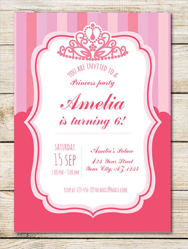 Birthday Crown Invitation Template
