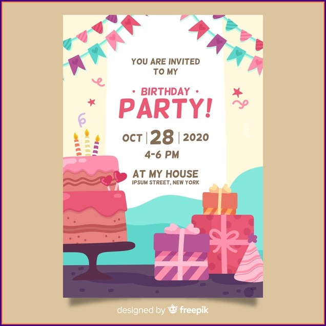 Birthday Party Invites Templates Free
