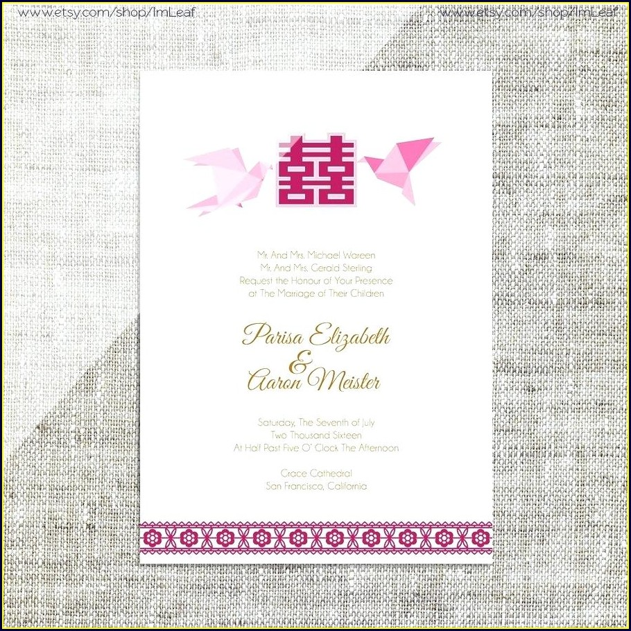 Chinese Wedding Invitation Card Design Template Free Download