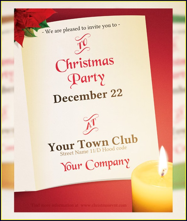 Christmas Invitation Templates For Word Free
