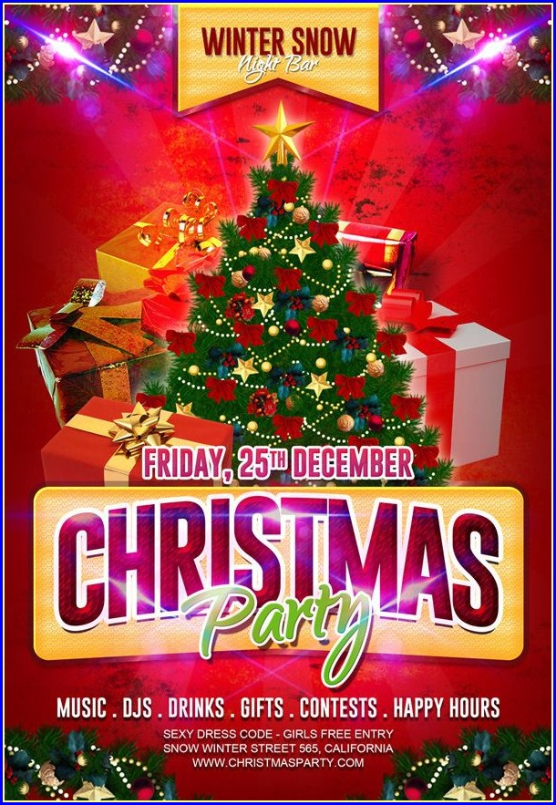 Christmas Party Flyers Templates Free
