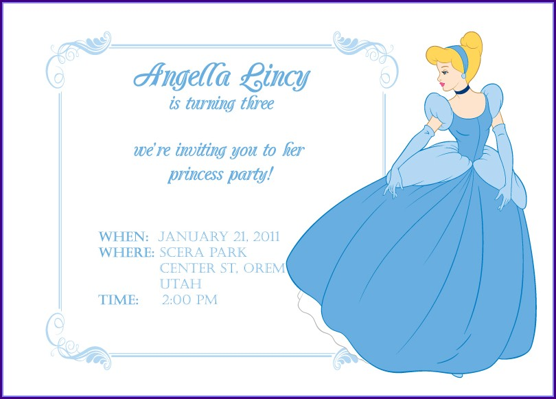 Cinderella Birthday Party Invitation Templates