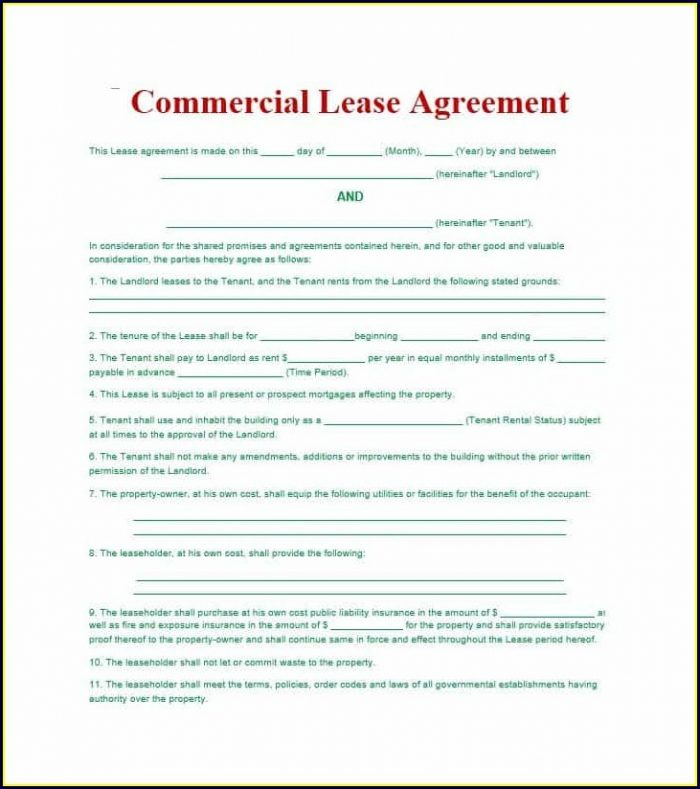Downloadable Lease Agreement Template