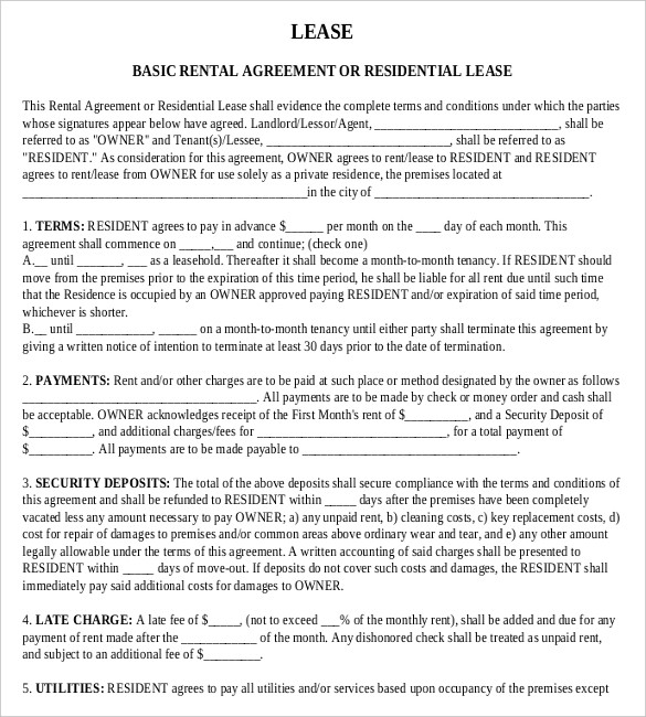 Downloadable Pdf Free Tenancy Agreement Template Word