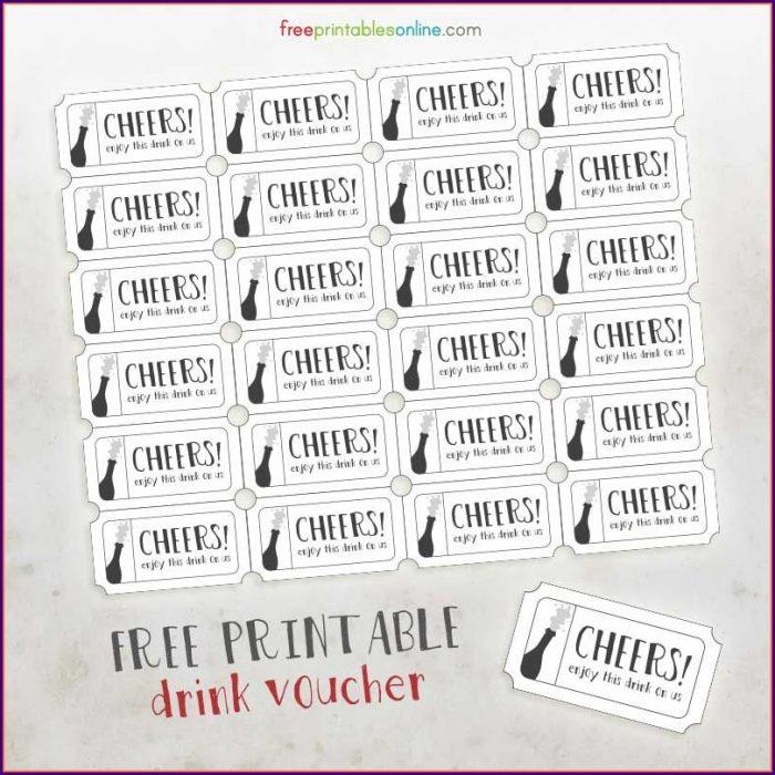 Drink Token Template