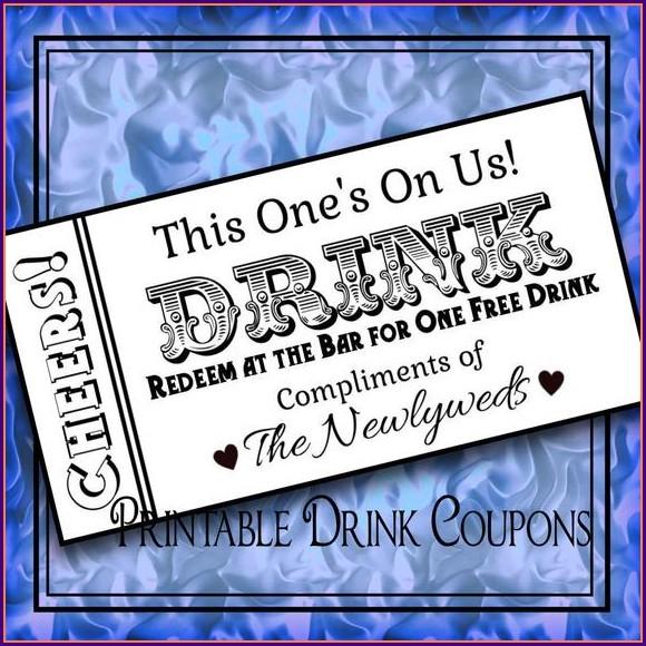 Drink Token Template Word