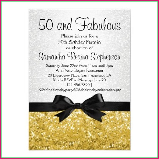 Editable 50th Birthday Invitations Templates Free