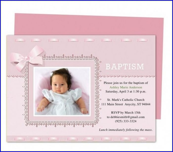 Editable Baptism Invitation Template Free