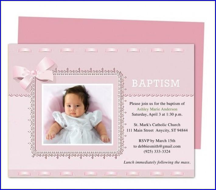 Editable Baptism Invitation Template Free