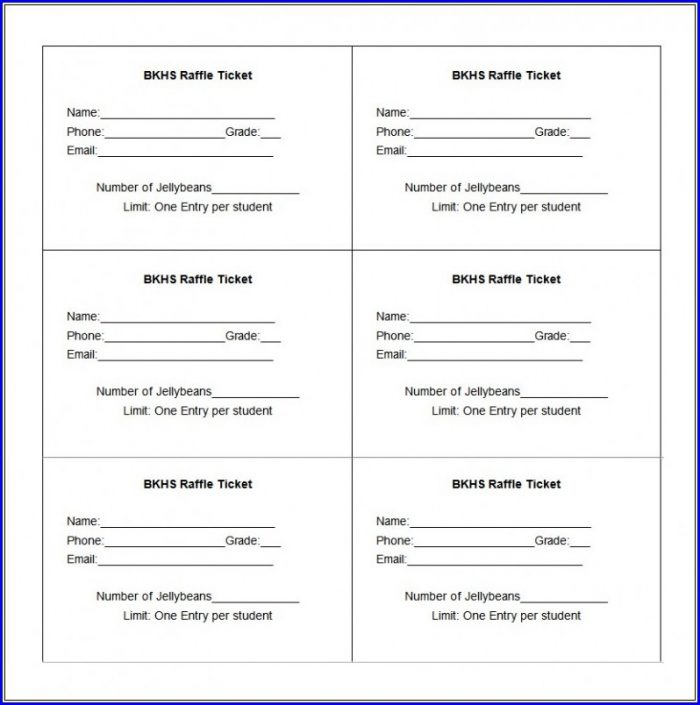Entry Ticket Template Word
