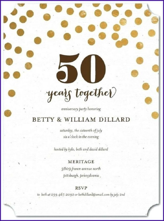 Free 50th Anniversary Invitation Templates
