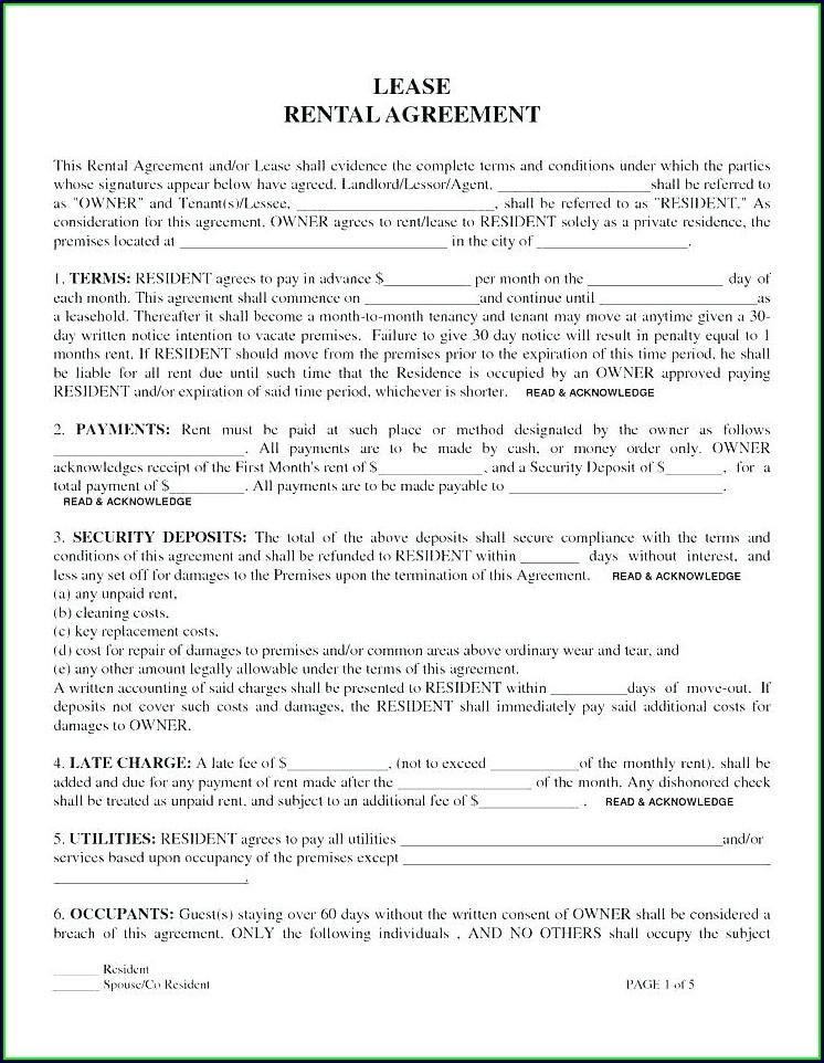 Free Equipment Rental Agreement Form Template