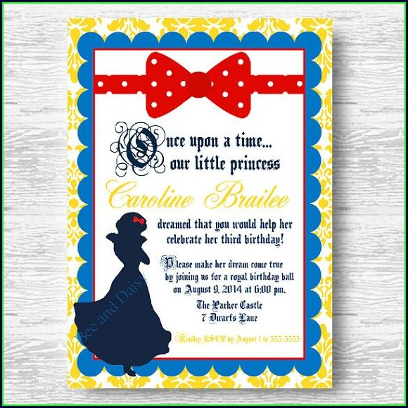 Free Printable Snow White Invitation Template