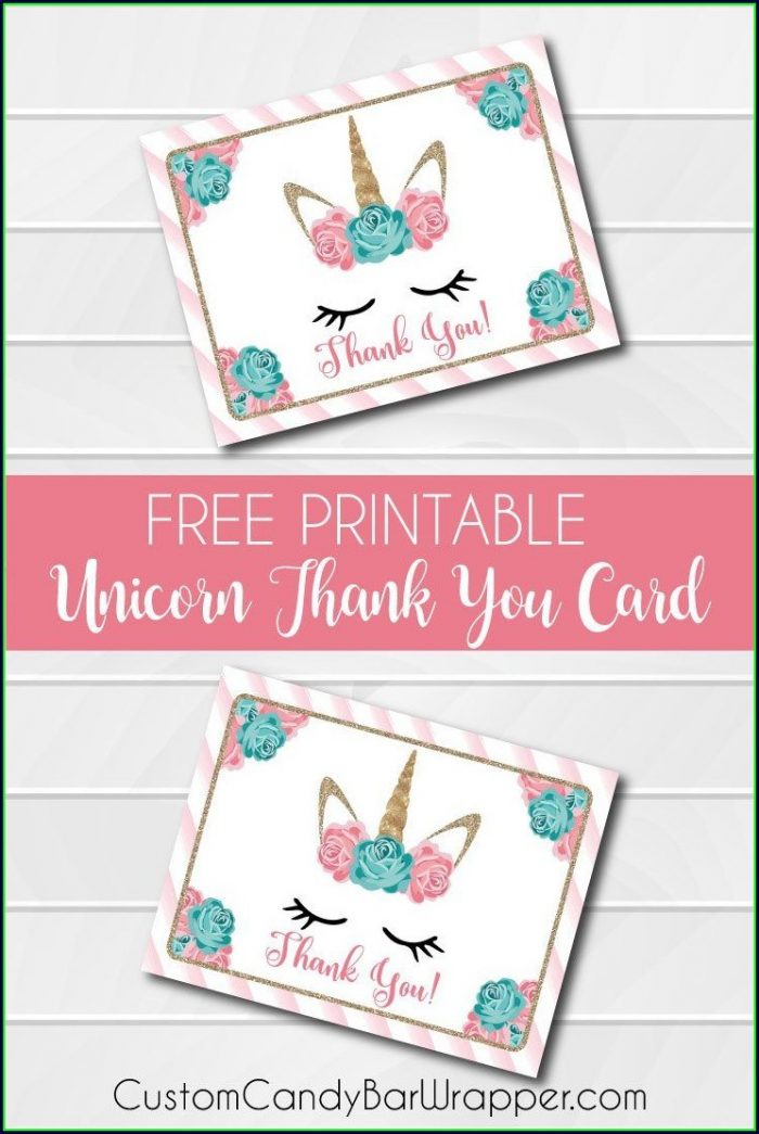 Free Printable Unicorn Birthday Card Template