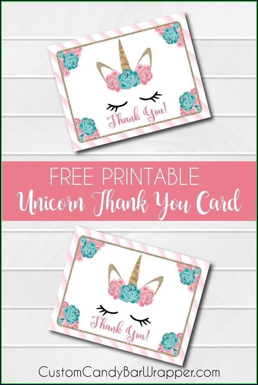 Free Printable Unicorn Birthday Card Template