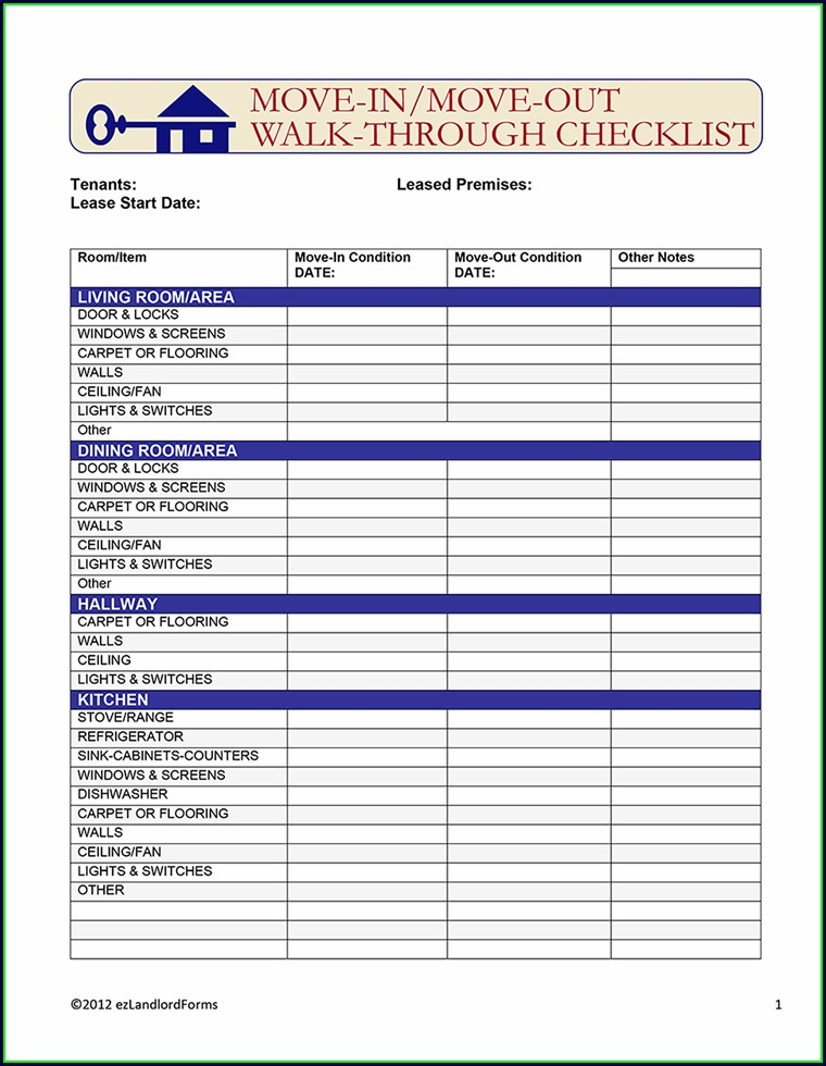 Free Rental Inspection Checklist Template