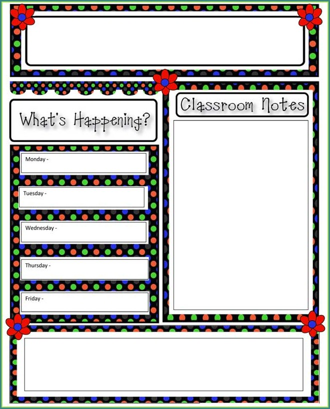 Free Templates For Classroom Newsletters