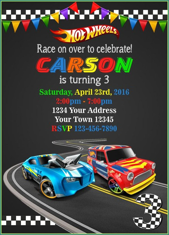 Hot Wheels Invitation Template