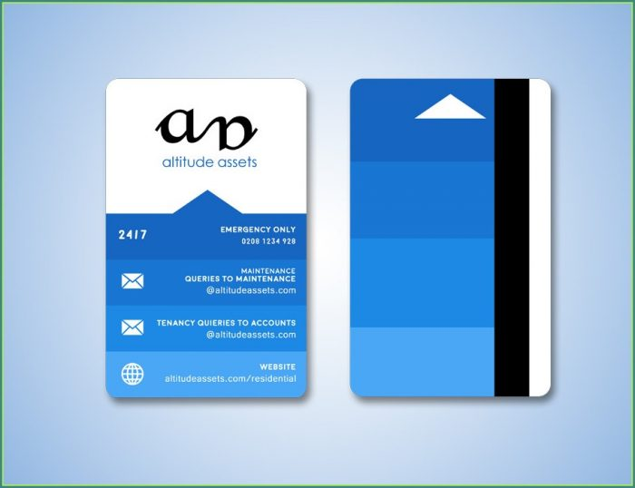 Hotel Key Card Design Template