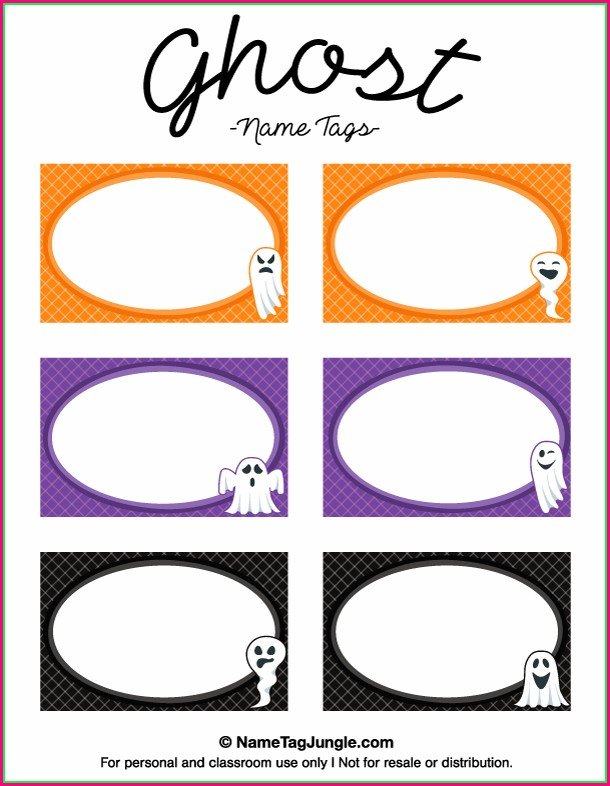 Label Halloween Name Tag Template