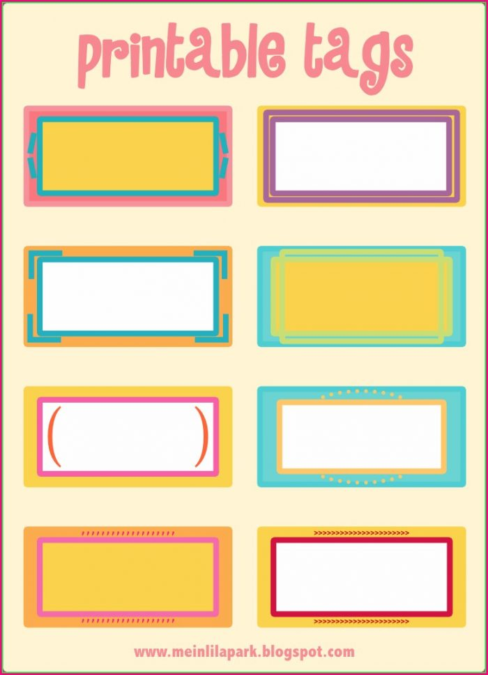 Name Tag Label Template Free