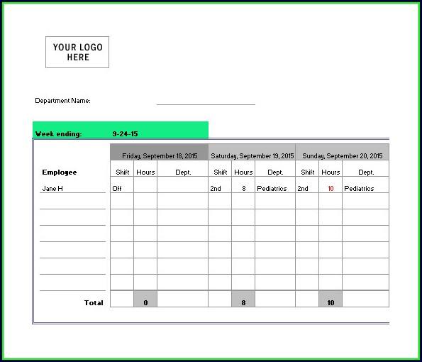 Nursing Daily Shift Planner Template