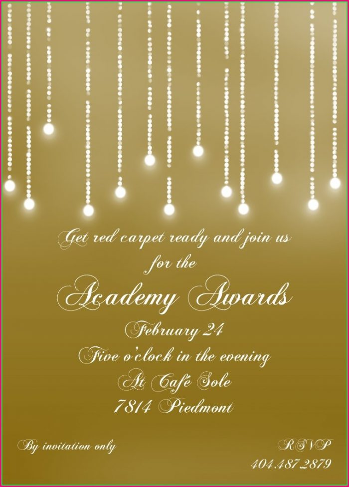 Oscar Awards Invitation Template