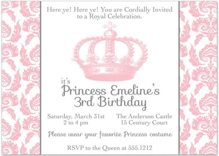 Princess Crown Invitation Template