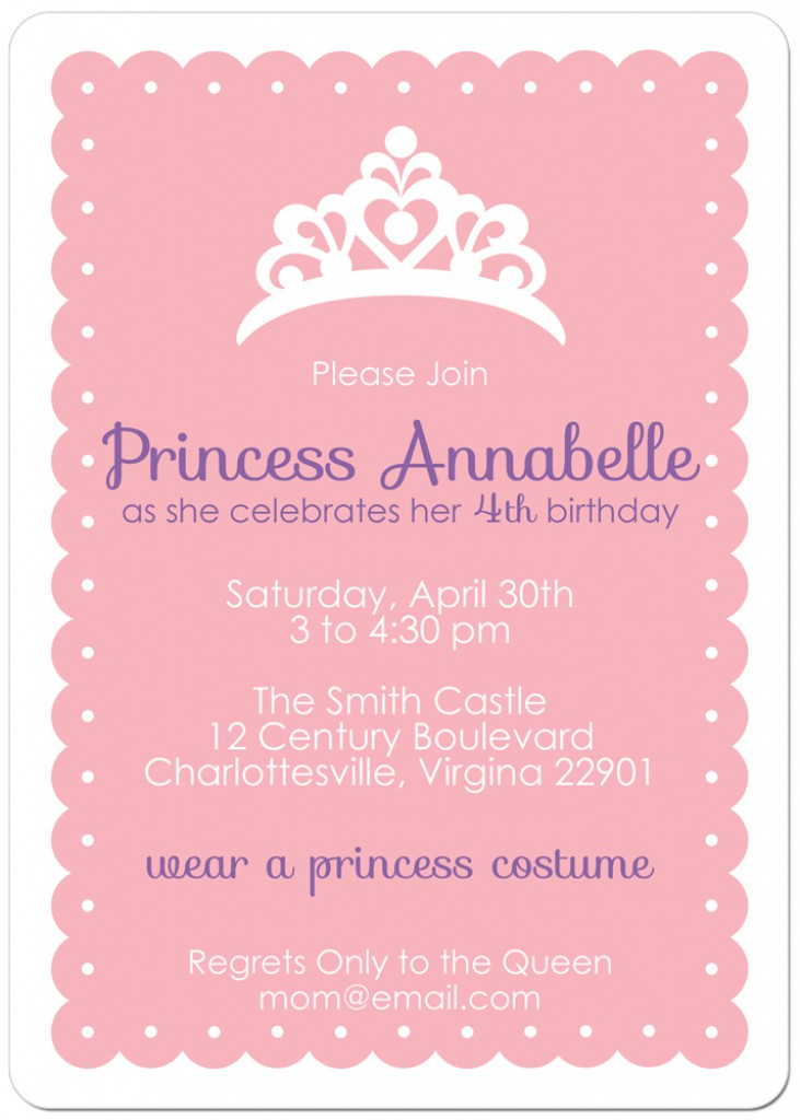 Printable Crown Invitation Template
