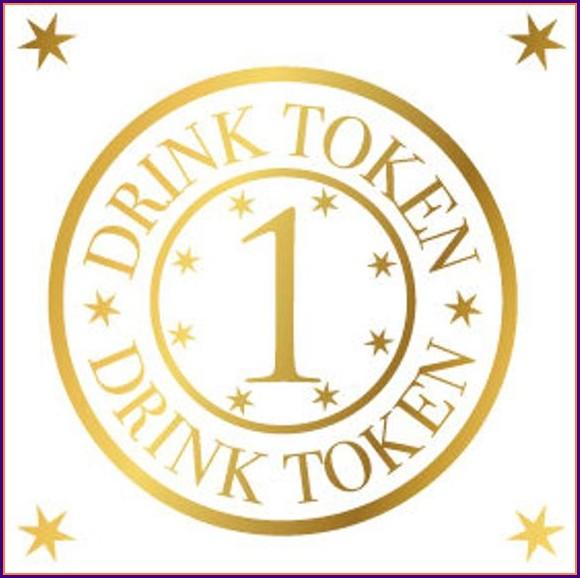 Printable Drink Token Template
