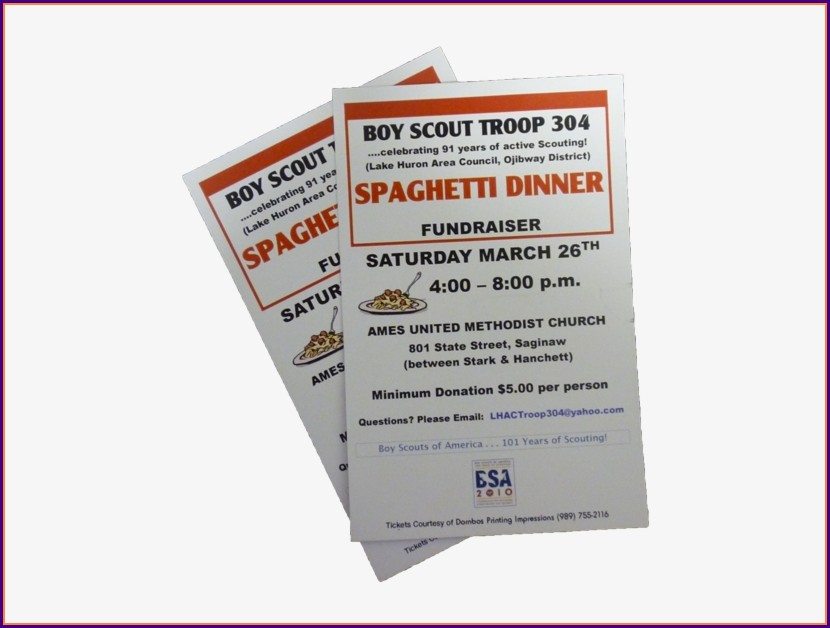Spaghetti Dinner Tickets Template