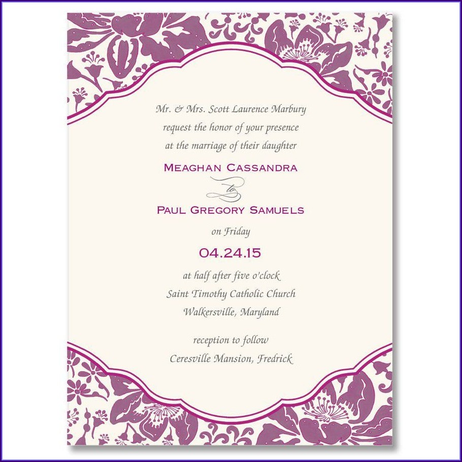 Templates For Engagement Invitation Cards