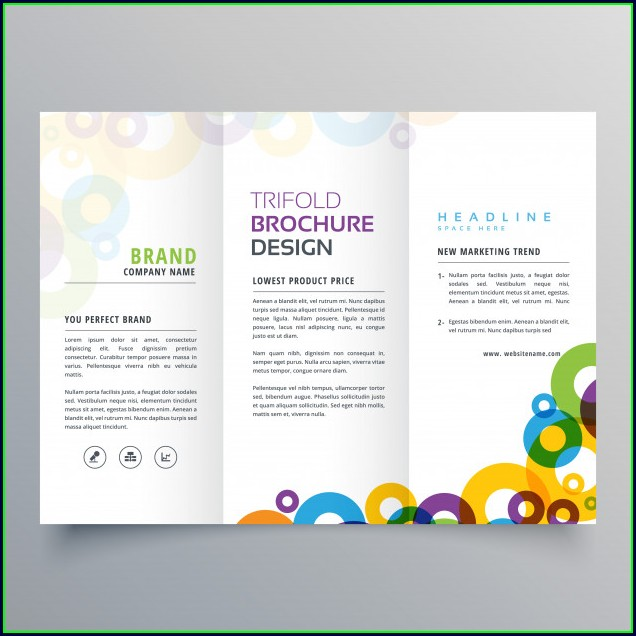 Tri Fold Brochure Design Template Free Download