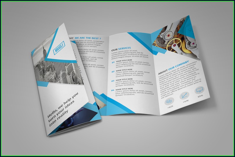 Tri Fold Brochure Template Illustrator Free
