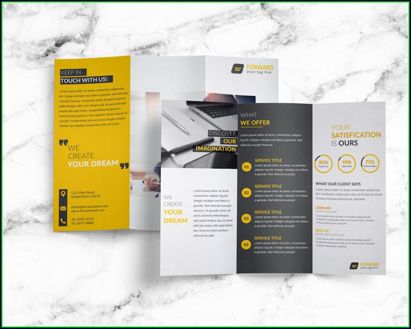 Tri Fold Brochure Template Psd Free Download