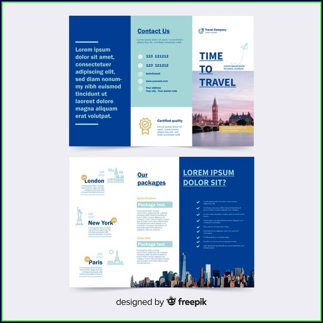 Tri Fold Travel Brochure Template Free Download