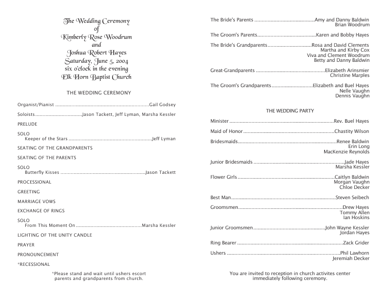 Wedding Anniversary Program Templates